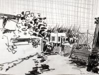 Panza 1. Graphitstift. 1979