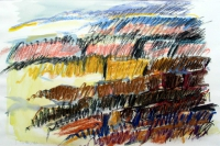 Taormina. Farbstifte. 1991
