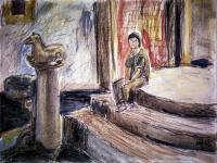 Taormina. Farbstifte. Aquarell. 1987