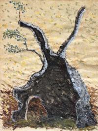 ausgebrannte-olive-acryl-2010