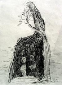 ausgebrannter-olivenbaum-graphit-2010