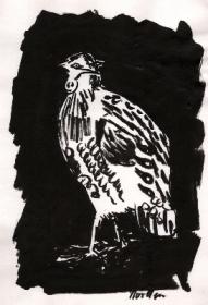 vogel-1-pinselzeichnung